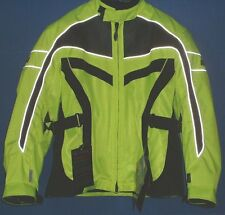 Olympia Womens Moto Sports Switchback Tech Black Neon Yellow Jacket XL WJ150Z
