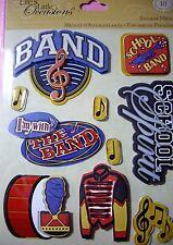 NEW 10 pc BAND STICKER MEDLEY School Band Uniforms Spirit Music K & CO 3D