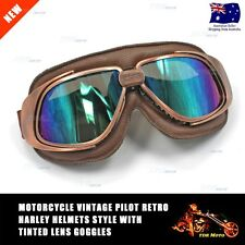 RXT RED BARON AVIATOR FLYING GOGGLES CAFE RACER MOTORCYCLE STEAMPUNK CYPERPUNK