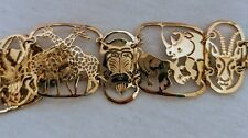 Gold plated Bracelet Wild Byrde African Animal