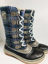 🔥Sorel Trivoli Plaid Fleece Lined Waterproof Winter Snow Boots • Women's Sz 7