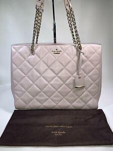 Kate Spade NY Emerson Place Phoebe Cream Leather Shoulder Bag (Medium/Large)
