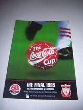 Liverpool Away Team Final Football League Cup Fixture Programmes