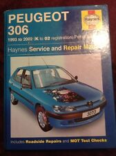 Haynes Peugeot 306 1993 To 2002 (k To 02 Reg) Petrol & Diesel Service & Repair M