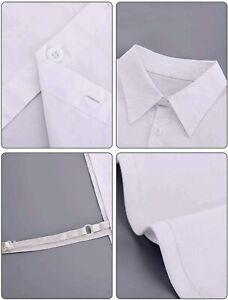 2 Pieces Fake Collar Detachable Blouse Dickey, Black, White, Size Medium MTGS