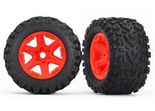 """Traxxas Talon EXT 3.8"""" Tires Orange Wheels for New E-Revo Brushless - TRA8672A"""