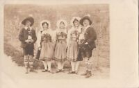 RPPC Postcard Men + Women German? Ethnic Costumes
