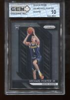 Michael Porter Jr. 2018-19 Prizm #32 Denver Nuggets Rookie GEM MINT 10