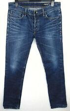 Jack & Jones Tim Slim Straight W36 L34 Mens Blue Denim Jeans