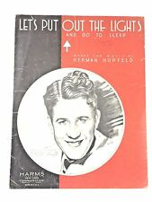 "192 ""Let's Put Out The Lights"" and Go To Sleep Sheet Music  Rudy Vallee"