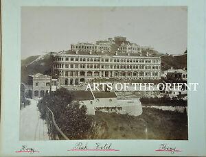 5 ANTIQUE PHOTO CHINESE CHINA CANTON HONG KONG MACAU ALBUMEN PEAK HOTEL 1890 #1