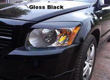 Dodge Caliber pre-cut Headlight Eyelid Overlays SRT eye brow Gloss Black graphic