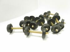 """HO Used 12 pcs. 33"""" Smooth Wheelsets w/ Brass Axles - Unknown Manufacture #33BS"""
