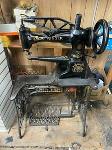 Singer 29-4 Revolving Foot Leather Cobbler Shoe Patch Treadle Sewing Machine