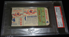 1950 WORLD SERIES GAME 4 TICKET NY YANKEES STADIUM CLINCH 13th WS TITLE PSA