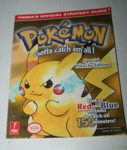 Prima's Official strategy Guide for Pokemon Yellow Pikachu