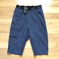 Nike Dry Mens Over The Knee 2.0 Training Shorts Size Small Blue AH9600-471
