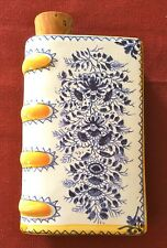 Book shaped Flask or Hand Warmer, THE GIFT IS SMALL GOOD WILL IS ALL, Delftware
