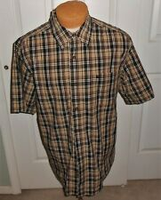 MENS CARHARTT CASUAL DRESS  SHIRT  LARGE RELAXED FIT BROWN BLACK PLAID