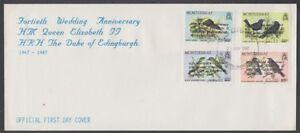 MONTSERRAT 1987 RUBY WEDDING FDC BIRDS (ID:650/D31788)