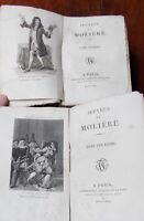 MOLIERE EDITION SAINTIN LIBRAIRE DE LA COUR 2 VOLUMES 1822 1ere édition