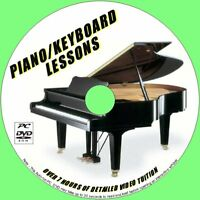 PIANO / KEYBOARD LESSONS BEGINNERS LEARNING PC DVD 7+ HRS EASY TO FOLLOW TUITION