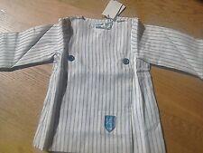 BNWT Designer Marie Chantal Linen Classic Blue Cream Striped Shorts Jacket Suit