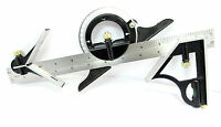 """12"""" 300mm Combination Square & Adjustable Protractor Measuring Angle Finder"""