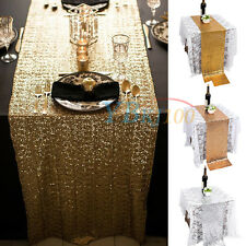 """Sequins Decor Wedding Party Christmas Dinner Table Runner Cloth Bling 108""""x11.8"""""""