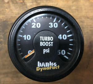 Banks DynaFact Boost Gauge Turbo Diesel Dodge Ford Chevy 2-1/16