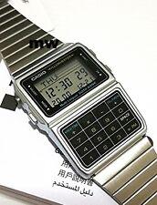 Genuine Casio DataBank Silver Calculator 5Alarms Telememo Watch DBC611-1 DBC611