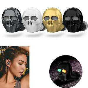 Fashion Skull Bluetooth Headset Headphone Wireless Earpiece for iPhone LG Galaxy