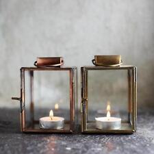 T-luz linterna de vidrio Aloma con acabado de cobre