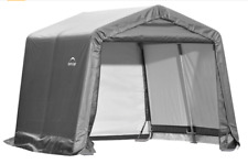Portable Storage Shed Waterproof Steel Frame With Cover Bicycles Motorcycles ATV