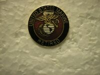 USMC HAT PIN -  UNITED STATES MARINE RETIRED