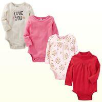 New OshKosh B'Gosh Baby Girls' Long Sleeve Solid or Screen Print Bodysuit