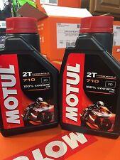 MOTUL 710 RACING 2 STROKE MOTORCYCLE OIL 1 LITER - 2 PACK FULL SYNTHETIC