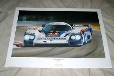 Rothmans Le Mans Porsche 956 Derek Bell Jacky Ickx IMSA 962c 962 Race Print