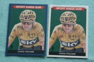 CHRIS FROOME LOT OF 2 2021 SPORTKINGS BLUE VARIATION & BASE #53 CYCLING