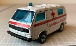 Matchbox Diecast Toy Car -  VW Volkswagen Transporter Ambulance
