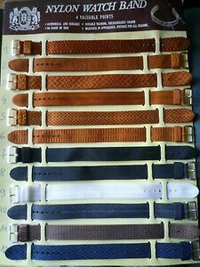 1 bracelet montre vintage en nylon - 18 mm