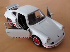 1973 Porsche 911 Carrera RS Die Cast car 1:38 WELLY Opening Doors Pull-back mech