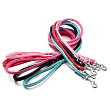 AU_ Pet Dog Puppy Faux Leather TractionRope Walking Leash Training Lead Strap