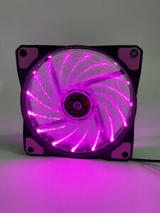 120MM Pink LED Gaming Quiet PC Computer Case Cooling Fan 4pin Molex New