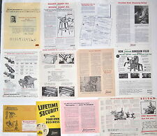 13 PC BELSAW MACHINERY BROCHURE FLYER NEWSLETTER Lot  RR954 sharp-all Sharpening