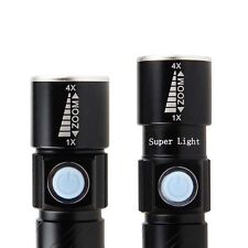 Mini LED 2000 lumens CREE Q5 Tactical Rechargeable  USB LED Flashlight Torch