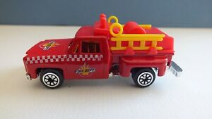 Fire Department Vehicle Die Cast & PlasticStep Bed Pick Up Hose Truck