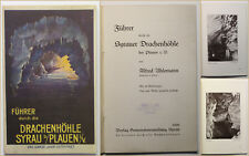 Orig. Prospekt Führer durch die Drachenhöhle Syrau b. Plauen 1929 Sachsen sf