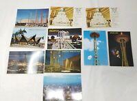 Seattle World's Fair Century 21 Exposition RPPC Lot of 10 Real Photo Postcards