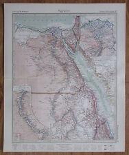 1926 Ägypten Egypt Égypte Afrika Kupferstich Alte Landkarte Karte Antique Map
